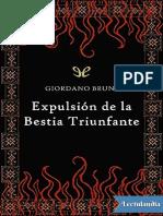 Expulsion de la bestia triunfante - Giordano Bruno