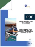 Análisis comparativo Técnico – Económico entre vías en base a durmientes de madera u hormigón,