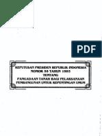 Keputusan Presiden Republik Indonesia Nomor 55 Tahun 1993 Tentang Pengadaan Tanah Bagi