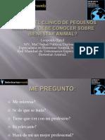 BIENESTAR ANIMAL EN PEQUEÑOS Lepoldo Estol