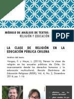Pedagogía en religión - Módulo de Análisis de Textos