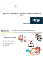 Plan  de implementación del sistema GESTION DE INCIDENCIAS ITIL_v1