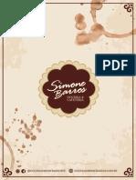 Simone Barros - Cardápio Encomendas