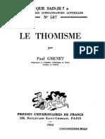 Paul Grenet - Le thomisme-Presses Universitaires de France (1964).pdf