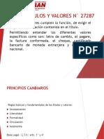 CLASE 1 - LEY DE TITULOS Y VAORES N° 27287