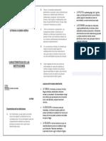 DIPTICO CARACTERISTICAS DE LAS INSTITUCIONES