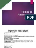 PAUTAS PARA AMBIENTACIÓN 2018.pptx