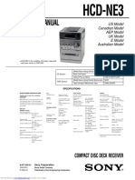 Manual de Servicio Sony HCD-NE3