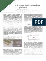 Determinación de la capacitancia parásita de un protoboard