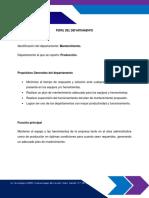 PERFIL DEL DEPARTAMENTO DE MANTENIMIENTO