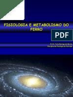 Profa Dra Tania - Fisiologia e Metabolismo Do Ferro