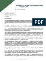 LEY ORGANICA DE SIMPLIFICACION Y PROGRESIVIDAD TRIBUTARIA