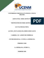 DEFINICIONES DE MERCADOTECNIA