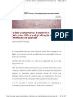 Altcoins ICOs e a digitalização do mercado de capitais
