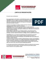CARTA DE PRESENTACIÓN TECESGROUP