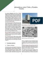 Relaciones diplomáticas entre Cuba y Estados Unidos