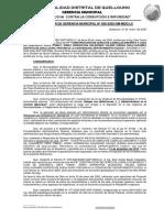 RESOLUCIÓN DE GERENCIA MUNICIPAL Nº 026 - REINICIO DE WIÑAY HUILLCAPAMPA