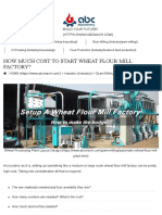 How Much Cost to Start Wheat Flour Mill Factory? How to Make Budget?