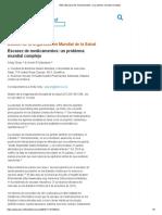 OMS _ Escasez de medicamentos_ un problema mundial complejo