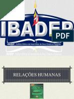 Relações humanas - 1º capítulo - fevereiro 2020
