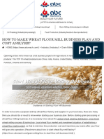 How to Make Wheat Flour Mill Business Plan and Cost Anslysis? [Factory Guide]
