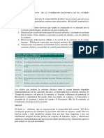 EFECTOS FISIOLÓGICOS  DE LA CORRIENTE ELÉCTRICA EN EL CUERPO HUMANO