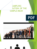 MEAN AND VARIANCE OF SAMPLING DISTRIBUTION