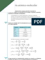 Química Resueltos(Soluciones) Teoría Atómico-Molecular de la Materia 1º Bachillerato
