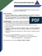 CONVOCATORIA PARADA DE PLANTA PPML048