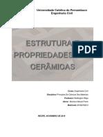 ESTRUTURA E PROPRIEDADES DAS CERÂMICAS_2ª UNIDADE
