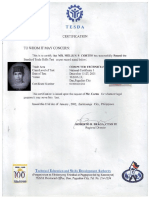TESDA License NC I Technician