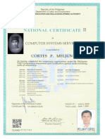 TESDA License NC II CSS Computer Systems Servicing