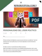 Personalidad del líder político _ MPR Group
