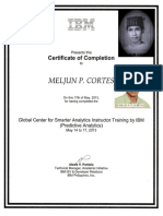 IBM Training Certificate Predictive Analytics