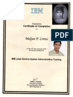 IBM Training Certificate Lotus Domino
