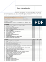 Check List diário para controle de manutenção de  Veículos