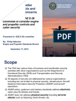 SAE E 36 Committee Proposal for Engine and Propeller Controls and Cyber Security