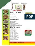 AVIO DE CHIFA  menu - para combinar