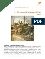 """ICSE UBA XXI Unidad 2 Actividad """"La Economía agroexportadora"""""""