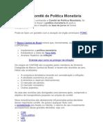 COPOM - Comitê de Política Monetária