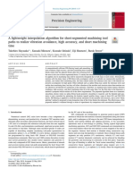 A lightweight interpolation algorithm for short-segmented machining toolpaths to realize vibration avoidance, high accuracy, and short machiningtime.pdf