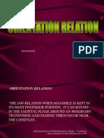 orientation relation