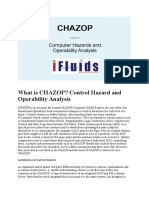 Control Hazard and Operability Analysis