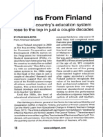 Lessons from Finland