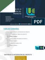 GESTION DE LA INTEGRACIONN DEL PROYECTO UCC