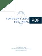 Planeacion y organización en el trabajo