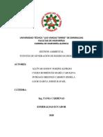 Trabajo FUENTES DE GENERACIÓN DE RESIDUOS INDUSTRIALES