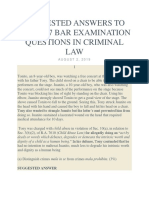 2017 BAR QUESTIONS CRIMINAL LAW