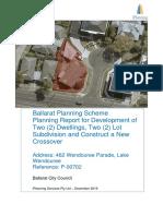 PLP2019876 462 Wendouree Parad_Lake Wendouree Planning Report