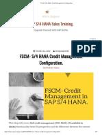 FSCM- S_4 HANA Credit Management Configuration_